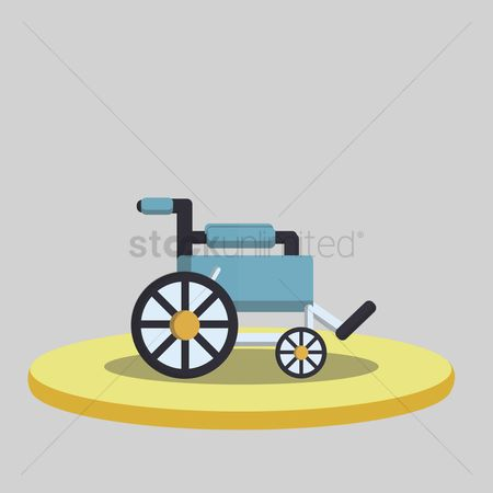 Wheelchair : Vector of wheelchair