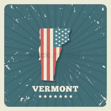Oldfashioned : Vermont map
