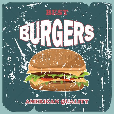 Burgers : Vintage burger wallpaper