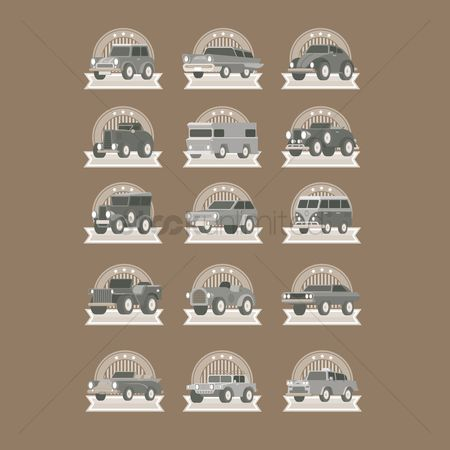 Taxis : Vintage car labels