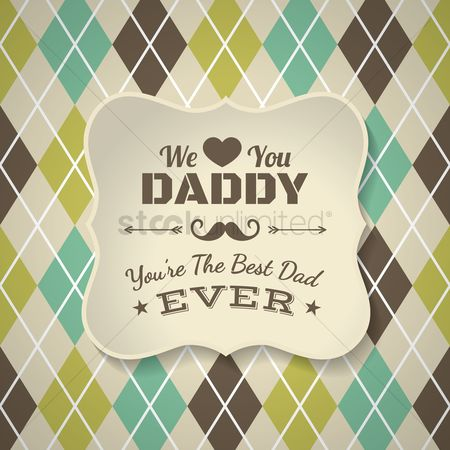 Thankful : Vintage fathers day design