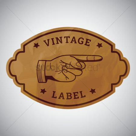 Oldfashioned : Vintage label