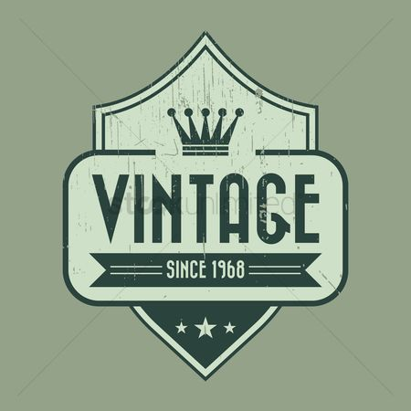 Products : Vintage product label design