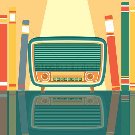 Audio book : Vintage radio in between books