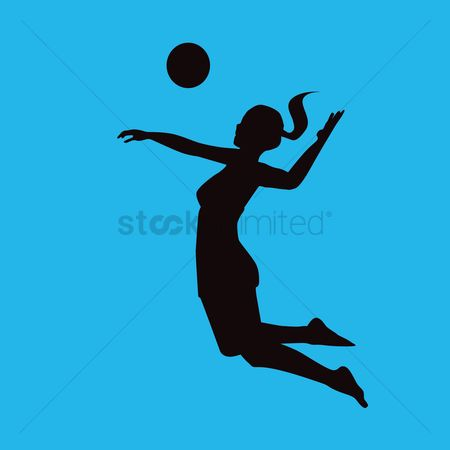 Volleyballs : Volleyball player in action