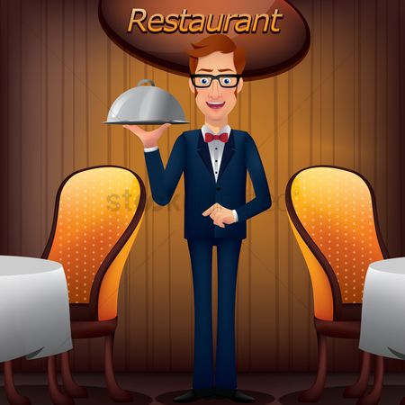 Serve : Waiter with cloche