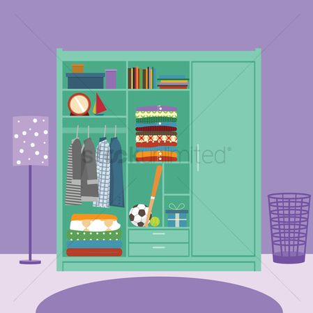 Interior background : Wardrobe