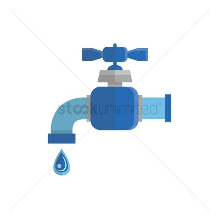 Faucets : Water tap with drop