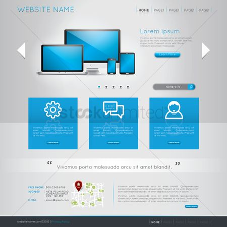 Map pointer : Website template