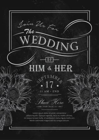 Blackboard : Wedding card design