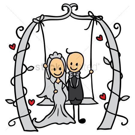 Proposal : Wedding couple on a swing