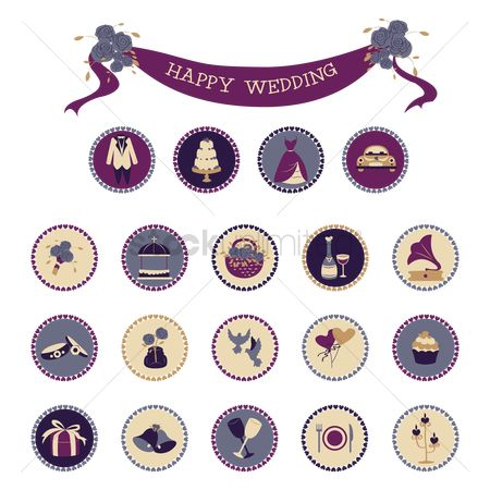 Tents : Wedding icons
