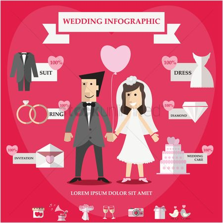Boxes : Wedding infographic