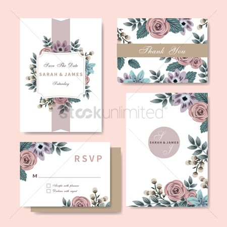 Weddings : Wedding invitation set