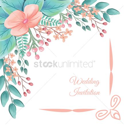 Vintage : Wedding invitation