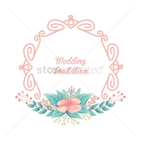 Vectors : Wedding invitation