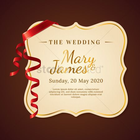Weddings : Wedding invitation
