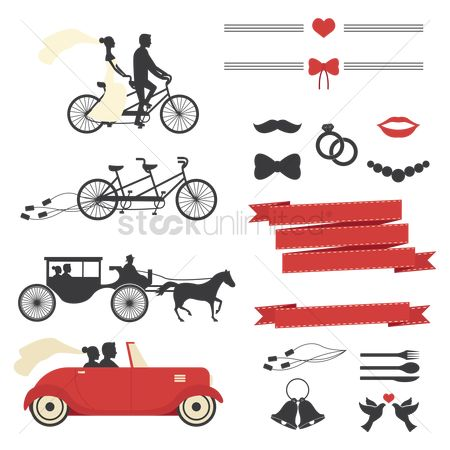 Transport : Wedding sticker collection