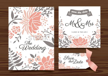 Floral : Wedding template design