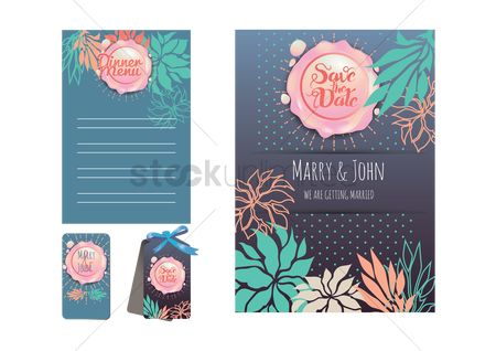 Weddings : Wedding template set