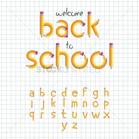 Fonts : Welcome back to school