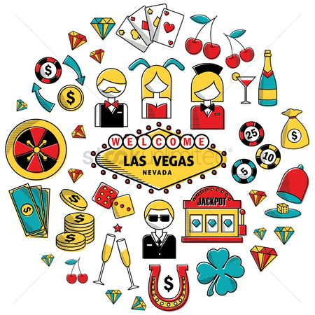 Poker chips : Welcome las vegas nevada background