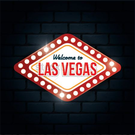 Brick : Welcome to las vegas sign