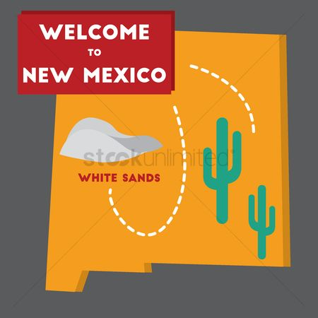 White sands : Welcome to new mexico state