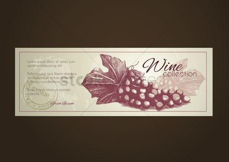 Grapes : Wine collection label