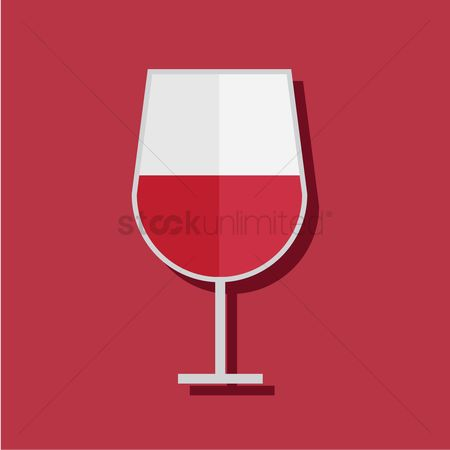 Red wines : Wine glass on red background
