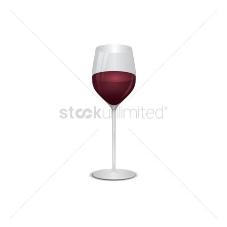 Red wines : Wineglass