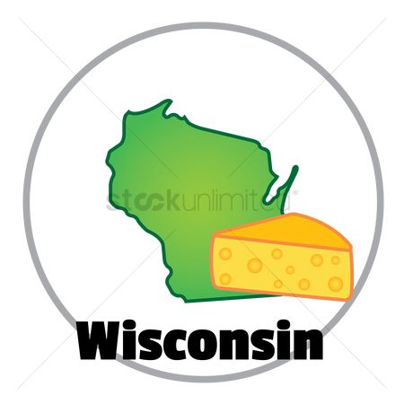 Dairies : Wisconsin state map