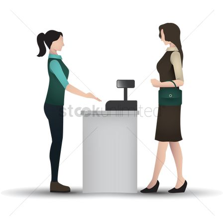 Market : Woman at the cashier counter