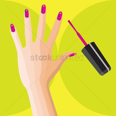 Luxuries : Woman hand with nail polish brush