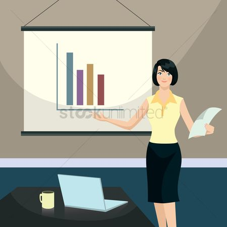 Work : Woman in a business presentation