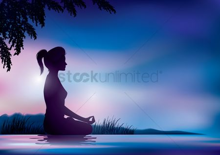 Lady : Woman in meditation