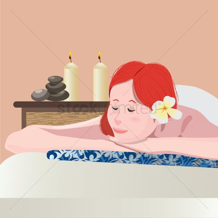 Zen : Woman in spa
