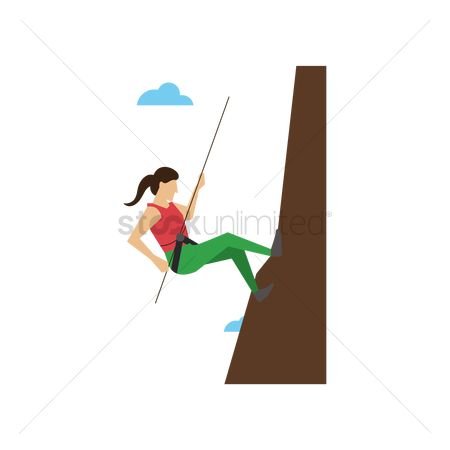 Challenges : Woman mountain climbing
