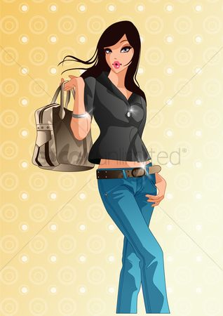 Trendy : Woman with handbag