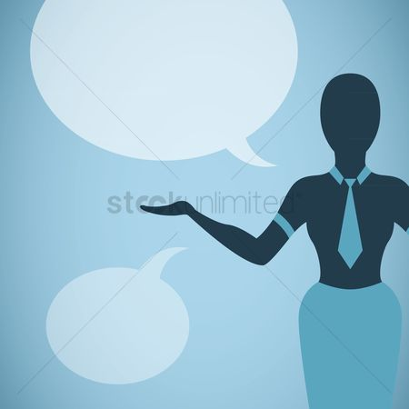 Skirt : Woman with speech bubbles
