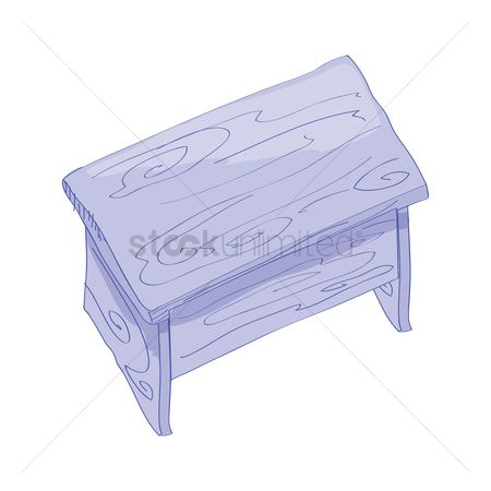 Interior : Wooden table