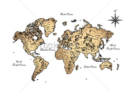 Free old world map stock vectors stockunlimited 1986078 old world map world map design gumiabroncs Images