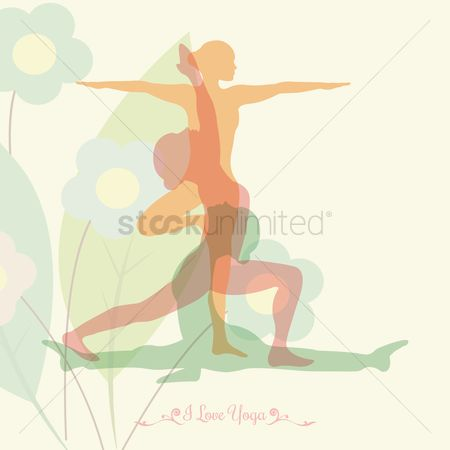 Double exposure : Yoga design