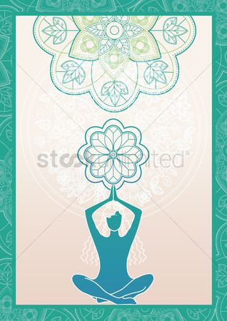 Borders : Yoga poster design