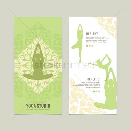 Health cares : Yoga studio flyer design