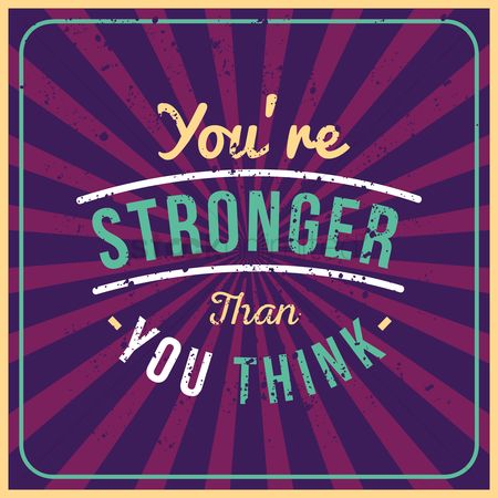 Fonts : You re stronger than you think quote