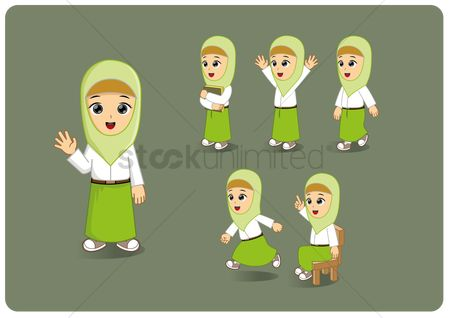Avatars : Young girl in a hijab