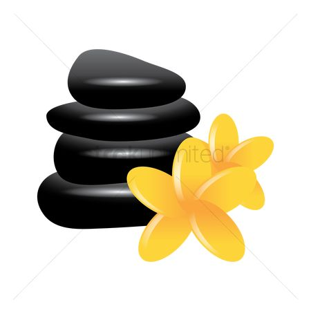 Zen : Zen stones with flowers