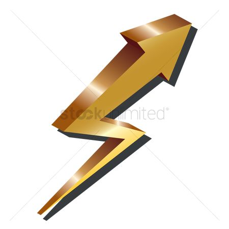Charging icon : Zigzag arrow