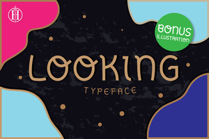Sans serif : Looking Typeface